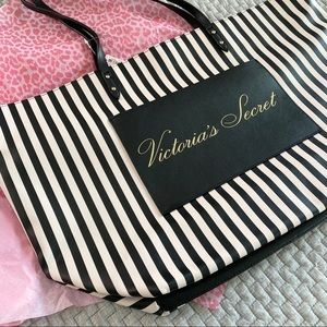 New with tags!!! Victoria Secret Striped Tote Bag